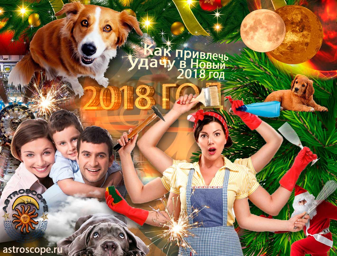 Как привлечь удачу в год жёлтой Собаки 2018