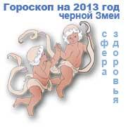 гороскоп здоровья на 2013 год для знака близнецы