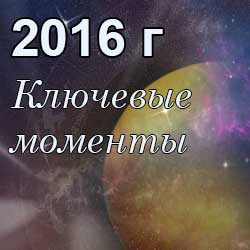 ключевые даты 2016 года