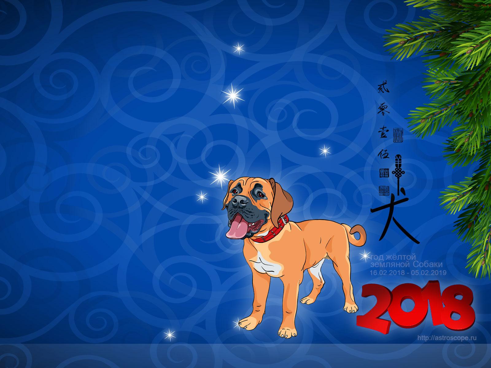 Картинки год собаки 2018 красивые