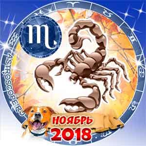 Гороскоп на ноябрь 2018 знака Зодиака Скорпион