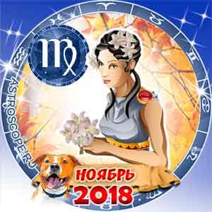 Гороскоп на ноябрь 2018 знака Зодиака Дева