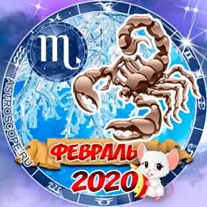 Гороскоп на февраль 2020 знака Зодиака Скорпион