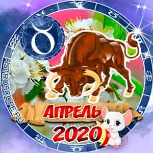 Гороскоп на апрель 2020 знака Зодиака Телец