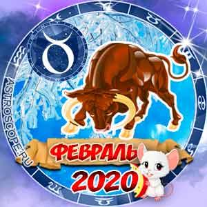 Гороскоп на февраль 2020 знака Зодиака Телец